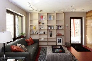 Passive House in the Woods, family room