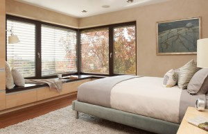 Passive House in the Woods, master bedroom