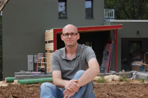 Tim Eian at the Passive House in the Woods, September 2010