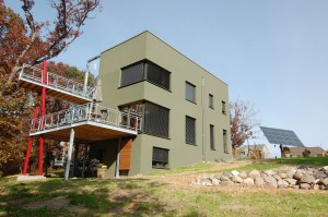 Passive House in the Woods southwest perspective