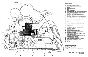 Passive House in the Woods landscape master plan