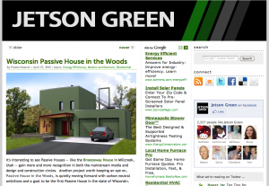 Passive House in the Woods on Jetson Green