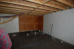 Passive House in the Woods, basement slab