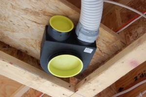 Passive House in the Woods ventilation system