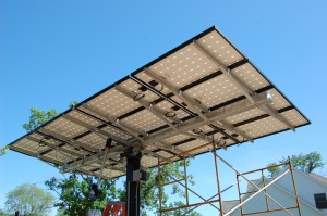 Passive House in the Woods PV tracker, underside