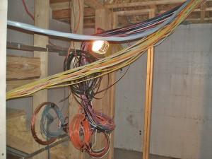 Passive House in the Woods wiring