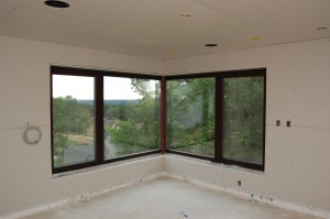 Passive House in the Woods master bedroom view