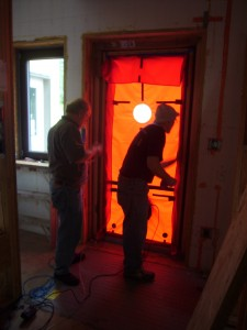 Passive House in the Woods Blower Door