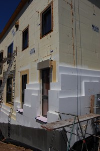 Passive House in the Woods EIFS