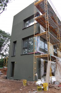 Passive House in the Woods southwest corner
