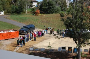Passive House in the Woods open house crowd