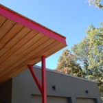 Passive House in the Woods, canopy detail
