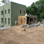 Passive House in the Woods southeast view