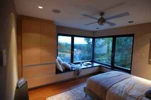 Passive House in the Woods Master Bedroom
