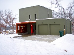 Passive House in the Woods winter impressions