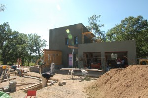 Passive House in the Woods, Front Elevation
