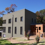 Passive House in the Woods, southeast elevation