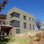 Passive House in the Woods, southwest elevation